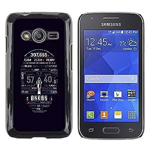 TopCaseStore / la caja del caucho duro de la cubierta de protección de la piel - Death Statistics Skull Typography - Samsung Galaxy Ace 4 G313 SM-G313F