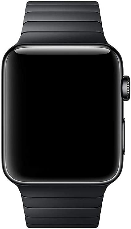 Smartwatch Band Stainless Steel Compatible for Apple Watch Series 3/2/1 (42mm) Serie 5/4 (44mm) Butterfly Clasp Business (Black)