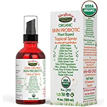(SKIN) USDA ORGANIC TOPICAL PROBIOTIC Spray by MaryRuth - Plant based organic strains help restore healthy bacteria to the skin. For Eczema, Psoriasis, Rosacea, Wrinkles & more. VEGAN, Non-GMO 4oz