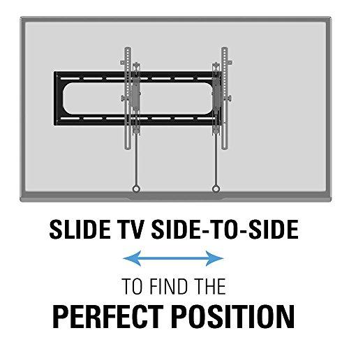 """51TtdJ0uSRL - Sanus Advanced Tilt Premium TV Wall Mount Bracket for 46"""" – 90"""" flat-panel TVs - Extends 5.7"""" from the Wall - VLT6-B1"""