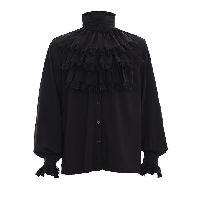 Amazon.com: De los hombres gótico victoriano Steampunk Blusa ...
