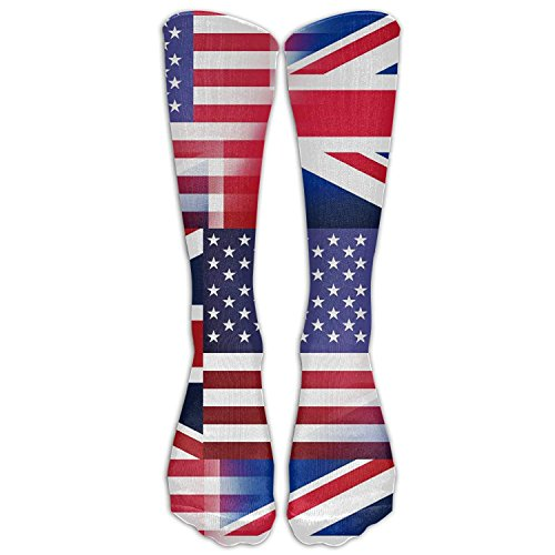 Price comparison product image American British Flag Unisex Novelty Knee High Socks Athletic Tube Stockings One Size