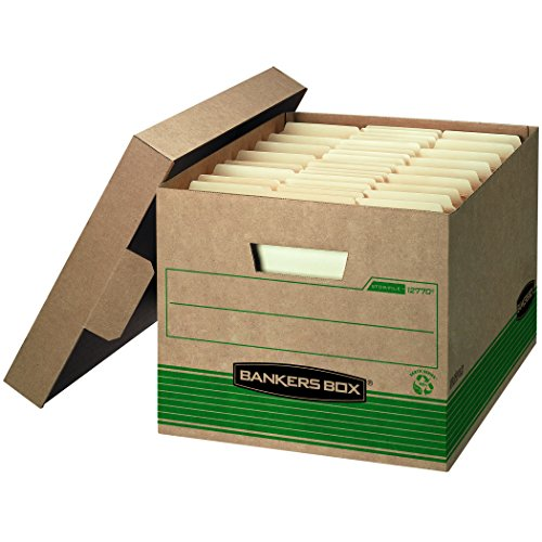 Duty Lid - Bankers Box STOR/File Medium-Duty Storage Boxes, FastFold, Lift-Off Lid, 100% Recycled, Letter/Legal, Value Pack of 20 (1277008)