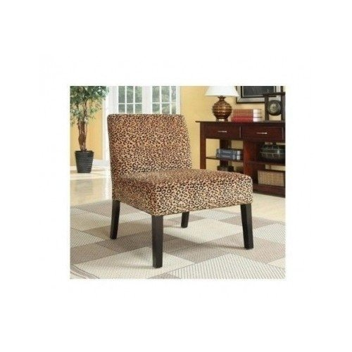 Modern Plush Oversized Armless Accent Chair Leopard Print Living Room Update