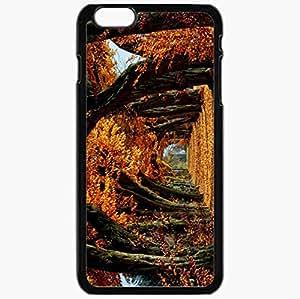 Unique Design Fashion Protective Back Cover For iPhone 6 Plus Case Slim (5.5 inch) Autumn Trees Background Nature Black