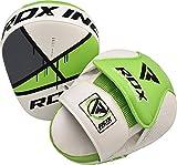 RDX Boxing Pads Curved Focus Mitts, Maya Hide Leather Kara Hook and jab Training Pads, MMA Muay Thai Kickboxing Coaching Martial Arts Punching Hand Target Strike Shield