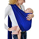 Cuby Breathable Baby Carrier Mesh Fabric, Ideal For Summers/ Beachhe Adjustable Ring Sling Baby Carrier. Ergo Friendly (Blue)