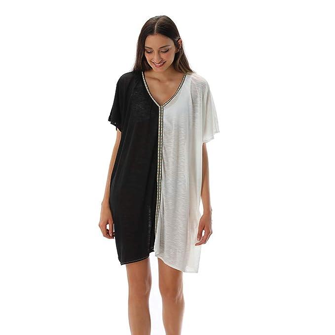 Amazon.com: XIZEFS traje de baño para mujer, con cuello en V ...