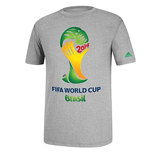 adidas FIFA World Cup Brasil Go To Tee (Heather Grey - Youth Large)