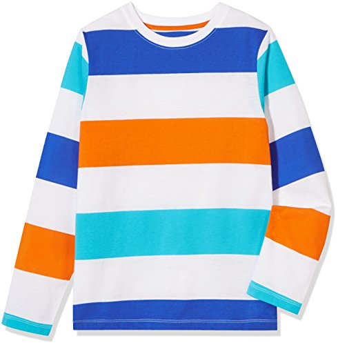 A for Awesome Boys Long Sleeve Stripe Jersey Tee X-Small Multi Color Stripe Cotton Stretch Long Sleeve Tee