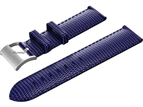 Isaac Mizrahi HP Y8Q07AA Smart Watch Band - Catalina Blue Lizard Strap with Silver Buckle