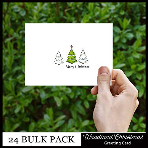 Holiday Card Boxed Set 24, Small Christmas Cards Bulk Cute Xmas Cards, Blank Greeting Cards with Envelopes and Sealed Stickers, Happy Holiday Note Cards 8 Assorted Designs Photo #6
