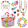 Pop Beads 500 Pcs Diy Jewelry Making Kit For Toddlers 3 4 5 6 7 8 Year Old Kids Pop Snap Beads Set To Make Hairband Necklaces Bracelets Rings And Art Crafts Creativity Toys For Girls Boys