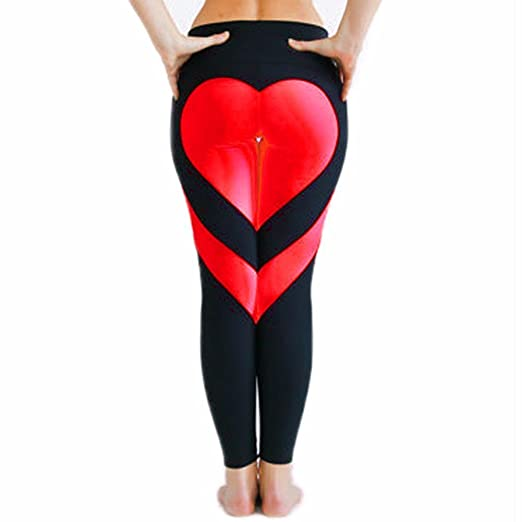 6c06a91f2 Tamskyt Women s Heart Shape Active Yoga Pants Sport Pants Workout Leggings  Sexy High Waist Trousers (