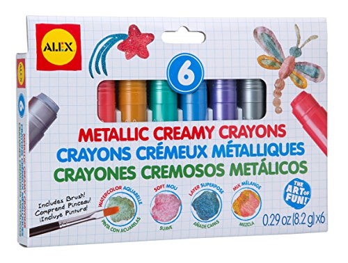 Nice ALEX Toys Artist Studio 6 Metallic Creamy Crayons hot sale