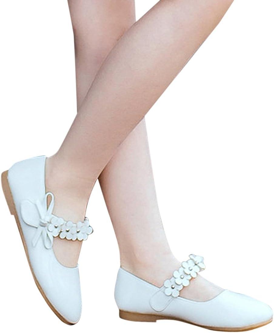 Lopetve Chaussure Princesse Fille Ballerine Sandale C/ér/émonie Mariage Simili Cuir Souple