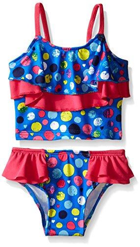 Pink Tankini Dot (Pink Platinum Baby Girls' Colorful Dots Tankini, Royal, 12 Months)