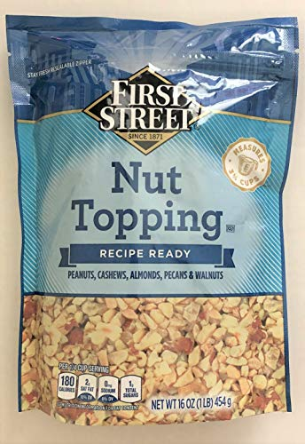16oz First Street Nut Topping Great for Baking & Ice Cream (One -