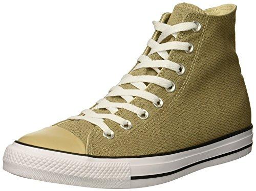 Converse Men's Chuck Taylor All Star Basketweave High Top Sneaker, Vintage Khaki/Black/White, 11 M (Converse High Top Sneakers)