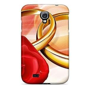 [fivtErv5463DDLFm]premium Phone For Case Samsung Galaxy S4 I9500 Cover Love Ring PC