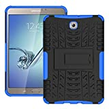 FALIANG Samsung GalaxyTab S2 T710(8 inch) Case, Dual Layer Armor Combo Shockproof Heavy Duty Shield Hard Case Cover for Samsung GalaxyTab S2 T710(8 inch) (Blue)