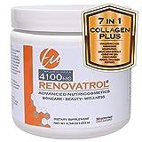 RENOVATROL® - Collagen Powder is NOT Enough: Verisol Bioactive Collagen Peptides, Cavacurmin, Resveratrol, Magnesium, Hyaluronic Acid, Grape Seed, CoQ10. Anti-Aging, Anti-inflammatory, Antioxidant.