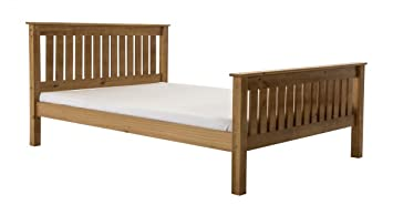 Manila Hfe Pine Bed 4 Foot Antique Manila High Foot End Pine Bed 4