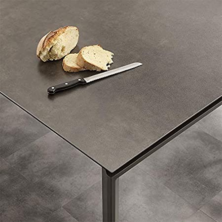 M 029 Table A Manger Extensible Taupe En Ceramique Eva Amazon Fr