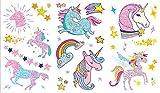 Glitter Tattoo Stickers / Temporary Tattoos Unicorn