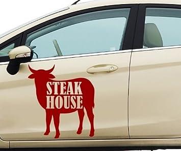 Pegatina de Coche Bistec House Res Comer Animal Decoración Texto ...
