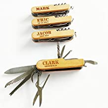 Personalized multi tool 11 in 1 wooden foldable pocket knife groomsmen gift best man gift birthday gift for him camping knife