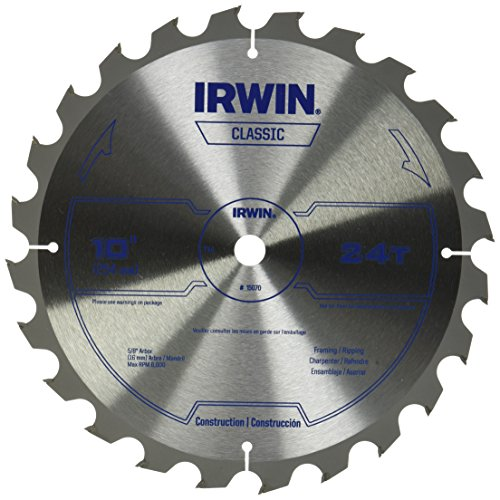 IRWIN Tools Classic Series Carbide Table / Miter Circular Saw Blades, 10-Inch, 24T (15070) - Carbide Saw Blade