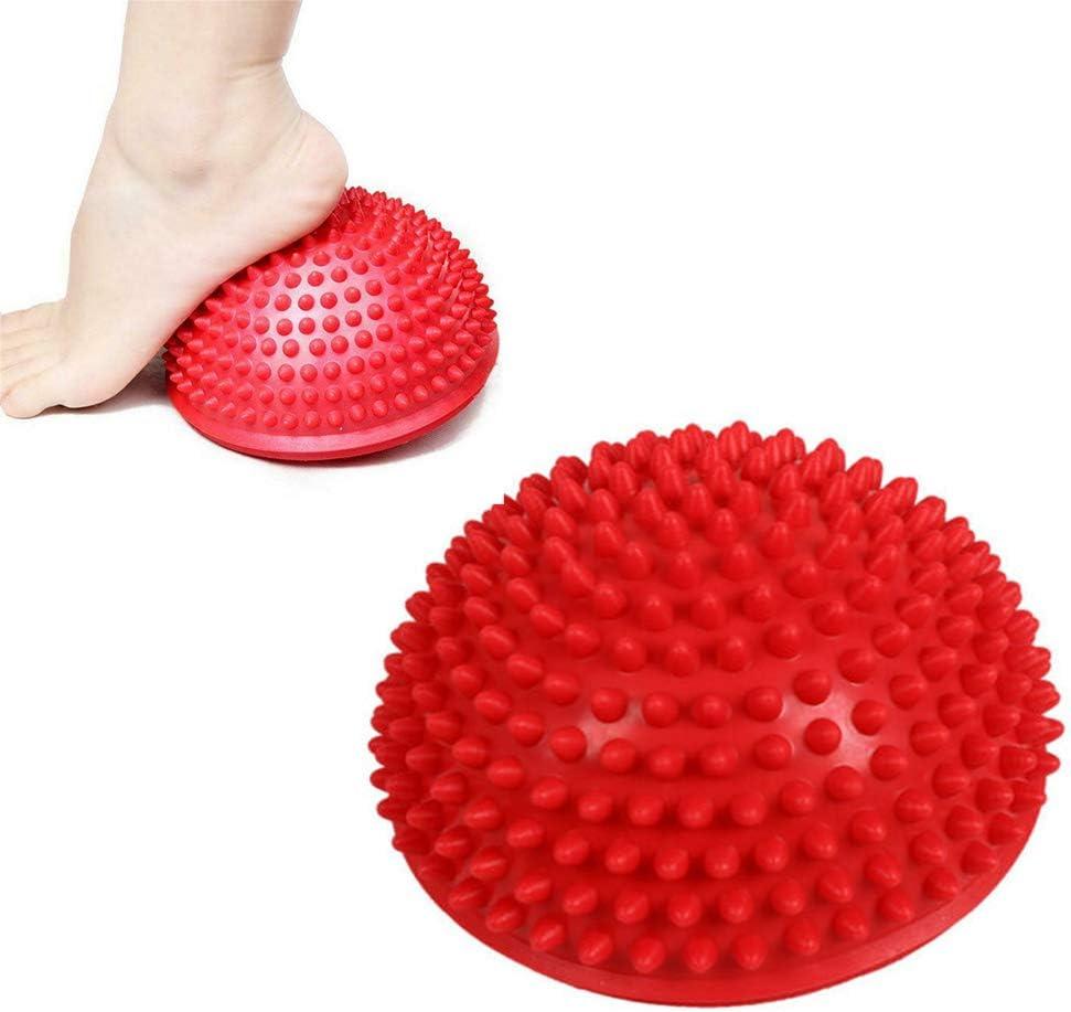 Blau Gleichgewicht und Motorik Training Massage Hemisph/äre Ball IHOMYIPET Igel Balance Pods mit Pumpe