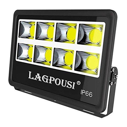 LAGPOUSI 800W LEDフラッドライト、スーパー明るい作業灯、4000Wハロゲン球相当、IP66防水、80000Lm、4000K昼間白屋外ガレージ、庭園、芝生、芝生用屋外投光器 (4000K, 800W) B07DW74VC2 14942 800W|4000K 4000K 800W