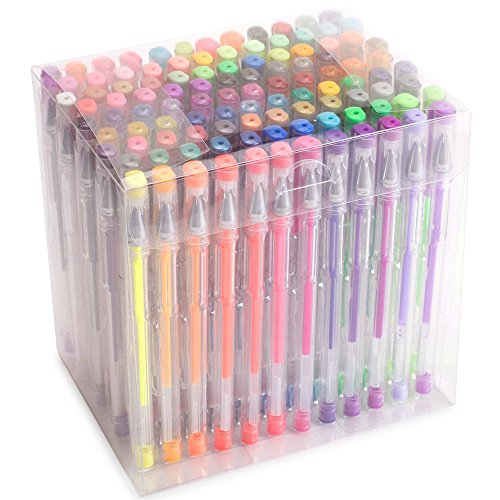 Large Product Image of Courise 108 Unique Colors Gel Pens Gel Pen Set For Adult Coloring books Drawing Painting Doodling