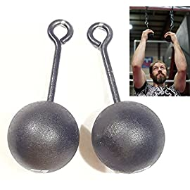 Grip Strength Training, 3-inch Hardwood Pull-Up Cannonballs