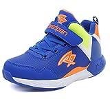 U-MAC Boys and Girls Damping Walking Sneakers Winter Warm Mid Sports Lace up Anti-slip Running Shoes