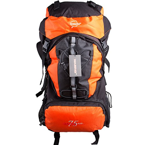 75l Internal Frame Pack (WASING 75L Water-resistant Internal Frame Backpack Hiking Backpacking Packs for Outdoor Hiking Travel Climbing Camping Mountaineering with Rain-Cover)