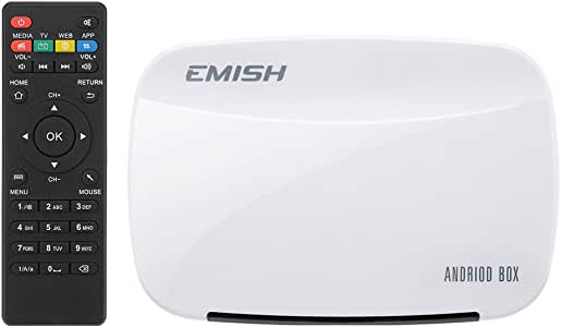 VicTsing Emish - Android TV Box, Reproductor multimedia (1080P) HDMI WIFI XBMC YouTube, color blanco: Amazon.es: Electrónica