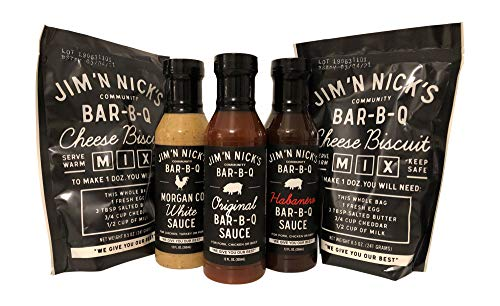 Jim N Nick's Ultimate Bar-B-Q Bundle: 2 Cheese Biscuit Mix and 3 World Famous BBQ Sauces