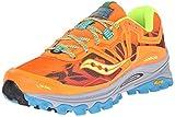 Saucony Women's Xodus 6.0 Trail Running Shoe, Orange/Blue/Citron, 8 M US