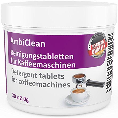 Reinigungstabletten für Kaffeevollautomat und Kaffee-Maschine   30 Tabletten je 2g auch für Espresso-Maschine, Kapselmaschine und Padmaschine geeignet   Hergestellt in Deutschland