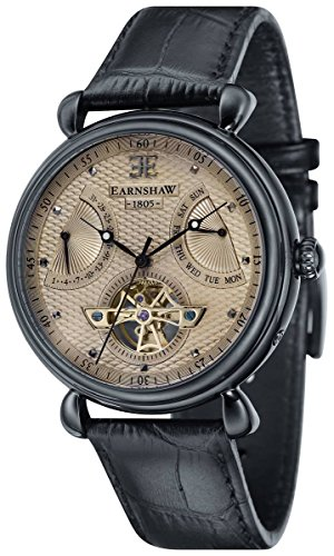 Thomas Earnshaw Womens The Grand Calendar Watch - Grey/Black