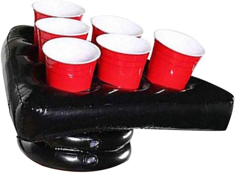 STOBOK sombrero de cerveza inflable fiesta de pong de cerveza juego de beber anillos juego de lanzamiento prop de fiesta de navidad