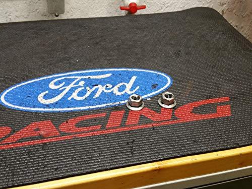 - 84-04 OEM Ford Mustang 302 V8 Engine Mount Set Pair Flange Lock NUT 5.0