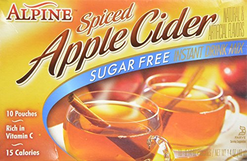 Alpine Mix Cider sugar  free drink mix 10 pouches (2 - Hot Apple Spiced