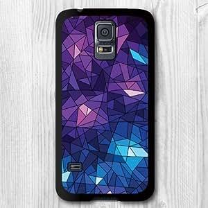 For Samsung Galaxy S5 Case,New Fashion Design Purple Geometric Pattern Protective Hard Phone Cover Skin Case For Samsung Galaxy S5 I9600 +Screen Protector