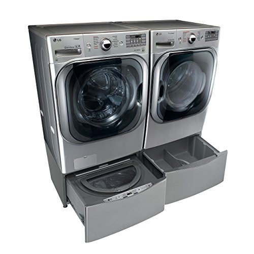 Stacked washer and dryer units cook clean enjoy lg titan 29 inch graphite 52 cu ft front load steam washer and 90 cu ft steam electric dryer setplus innovative twin wash sidekick pedestal washer fandeluxe Images