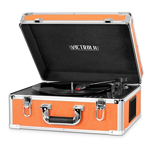 Victrola 3-Speed Bluetooth Suitcase Turntable with CD Player