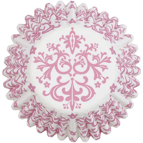 - Wilton Baking Cups, Mini, Pink Damask, 100/Pack